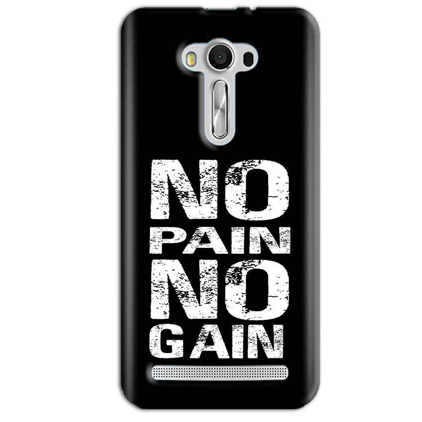 Asus Zenfone 2 Laser ZE550KL Mobile Covers Cases No Pain No Gain Black And White - Lowest Price - Paybydaddy.com