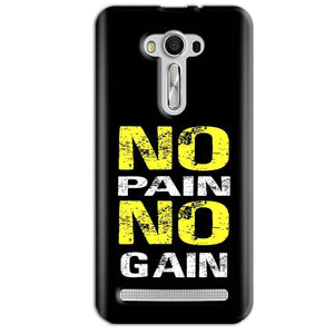 Asus Zenfone 2 Laser ZE550KL Mobile Covers Cases No Pain No Gain Yellow Black - Lowest Price - Paybydaddy.com
