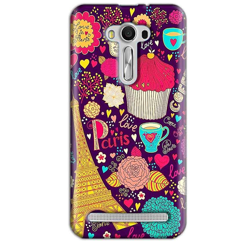 Asus Zenfone 2 Laser ZE550KL Mobile Covers Cases Paris Sweet love - Lowest Price - Paybydaddy.com