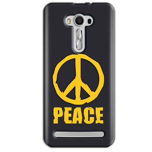 Asus Zenfone 2 Laser ZE550KL Mobile Covers Cases Peace Blue Yellow - Lowest Price - Paybydaddy.com