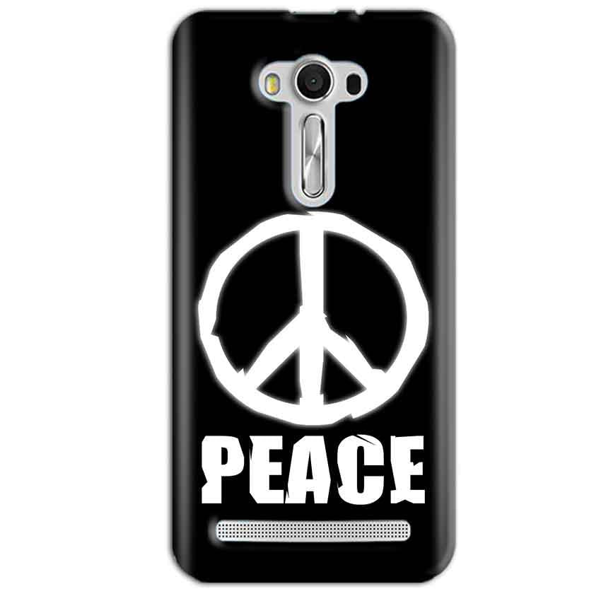 Asus Zenfone 2 Laser ZE550KL Mobile Covers Cases Peace Sign In White - Lowest Price - Paybydaddy.com