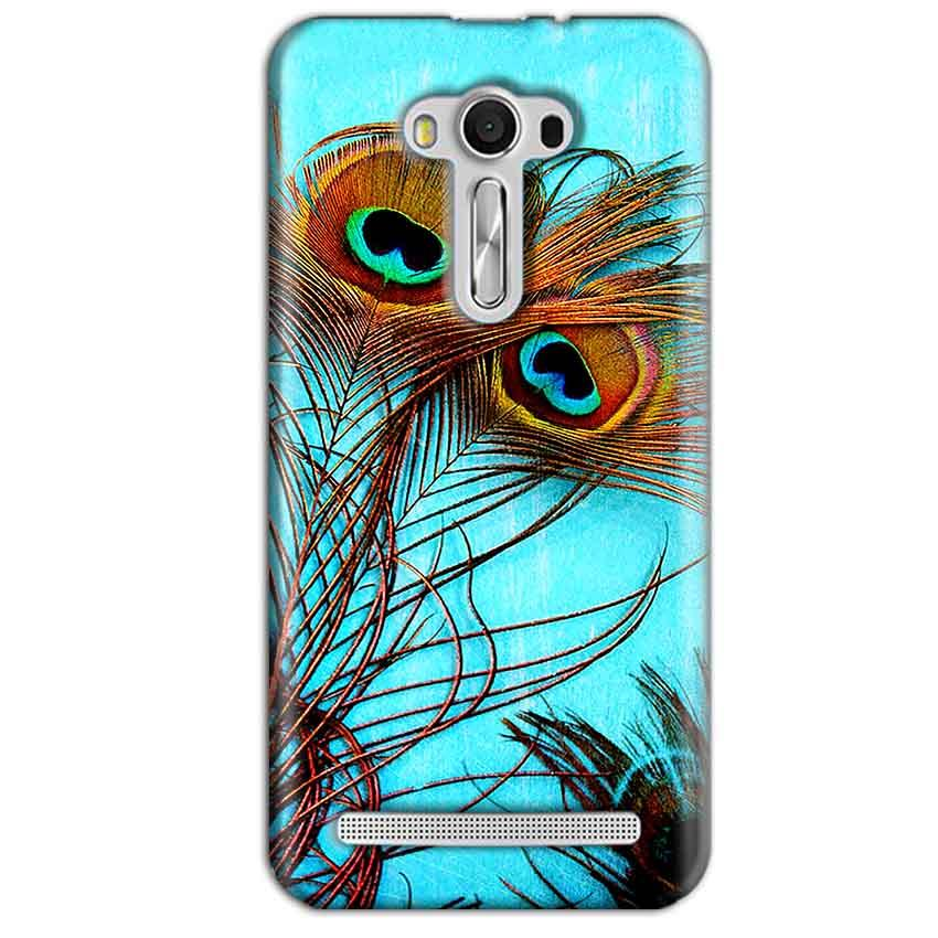 Asus Zenfone 2 Laser ZE550KL Mobile Covers Cases Peacock blue wings - Lowest Price - Paybydaddy.com