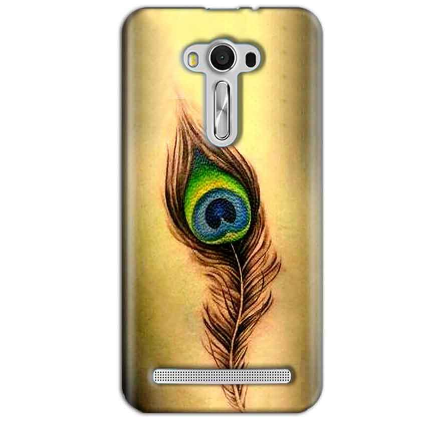 Asus Zenfone 2 Laser ZE550KL Mobile Covers Cases Peacock coloured art - Lowest Price - Paybydaddy.com