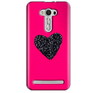 Asus Zenfone 2 Laser ZE550KL Mobile Covers Cases Pink Glitter Heart - Lowest Price - Paybydaddy.com