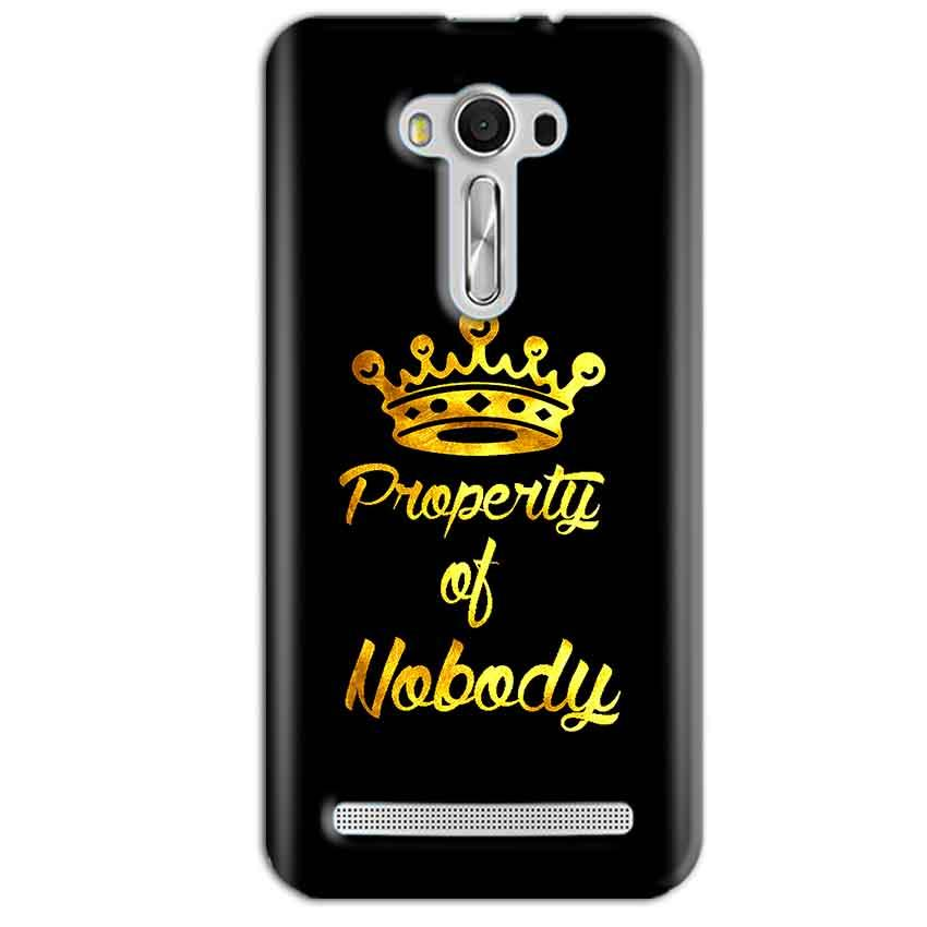 Asus Zenfone 2 Laser ZE550KL Mobile Covers Cases Property of nobody with Crown - Lowest Price - Paybydaddy.com