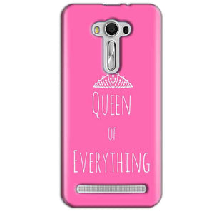 Asus Zenfone 2 Laser ZE550KL Mobile Covers Cases Queen Of Everything Pink White - Lowest Price - Paybydaddy.com
