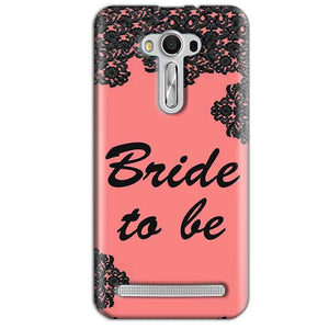 Asus Zenfone 2 Laser ZE550KL Mobile Covers Cases Mobile Covers Cases bride to be with ring Black Pink - Lowest Price - Paybydaddy.com