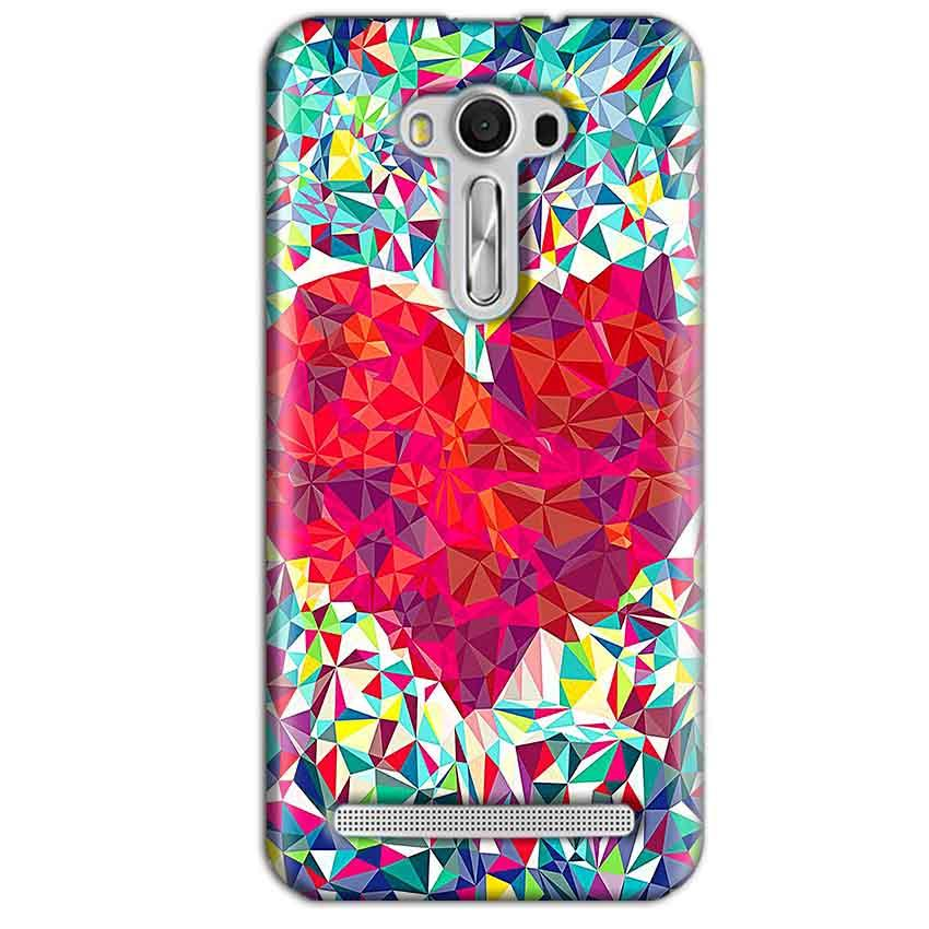 Asus Zenfone 2 Laser ZE550KL Mobile Covers Cases heart Prisma design - Lowest Price - Paybydaddy.com