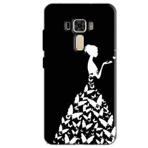 Asus Zenfone 3 Mobile Covers Cases Butterfly black girl - Lowest Price - Paybydaddy.com
