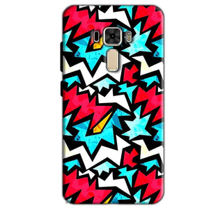 Asus Zenfone 3 Mobile Covers Cases Colored Design Pattern - Lowest Price - Paybydaddy.com