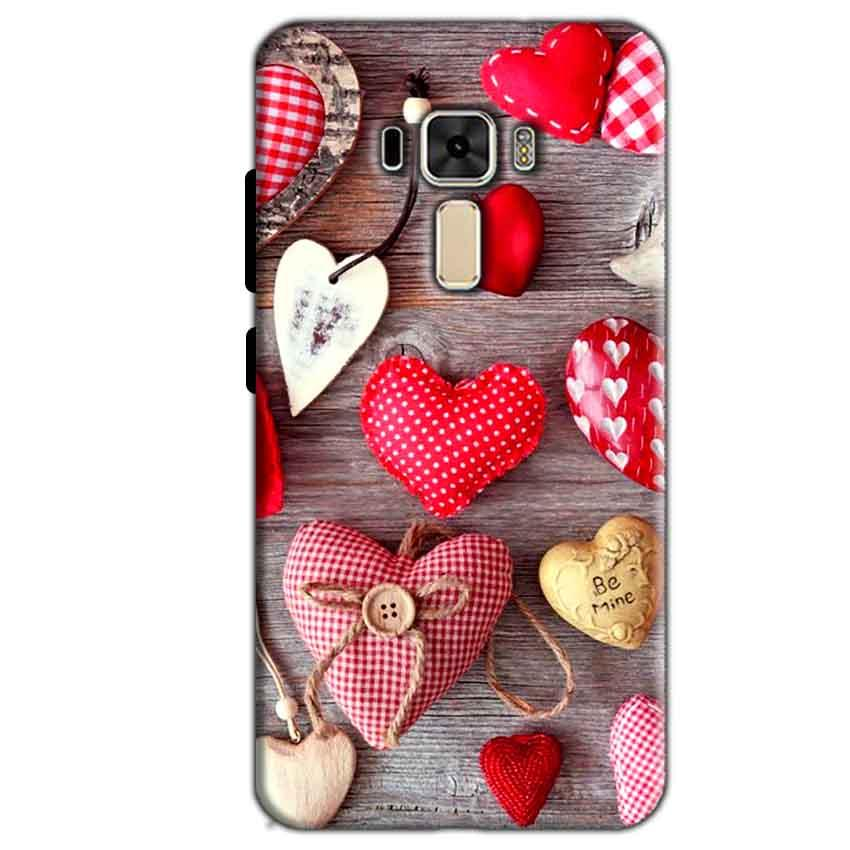 Asus Zenfone 3 Mobile Covers Cases Hearts- Lowest Price - Paybydaddy.com
