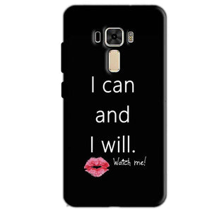 Asus Zenfone 3 Mobile Covers Cases i can and i will Lips - Lowest Price - Paybydaddy.com