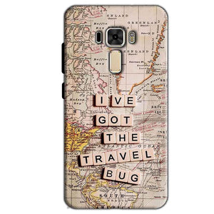 Asus Zenfone 3 Mobile Covers Cases Live Travel Bug - Lowest Price - Paybydaddy.com