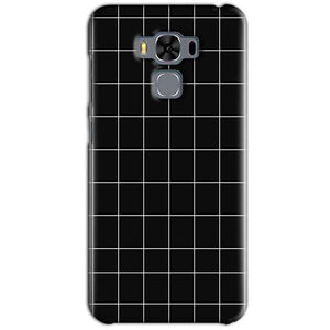 Asus Zenfone 3 MAX ZC553KL Mobile Covers Cases Black with White Checks - Lowest Price - Paybydaddy.com