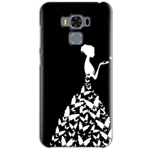 Asus Zenfone 3 MAX ZC553KL Mobile Covers Cases Butterfly black girl - Lowest Price - Paybydaddy.com