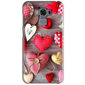 Asus Zenfone 3 MAX ZC553KL Mobile Covers Cases Hearts- Lowest Price - Paybydaddy.com