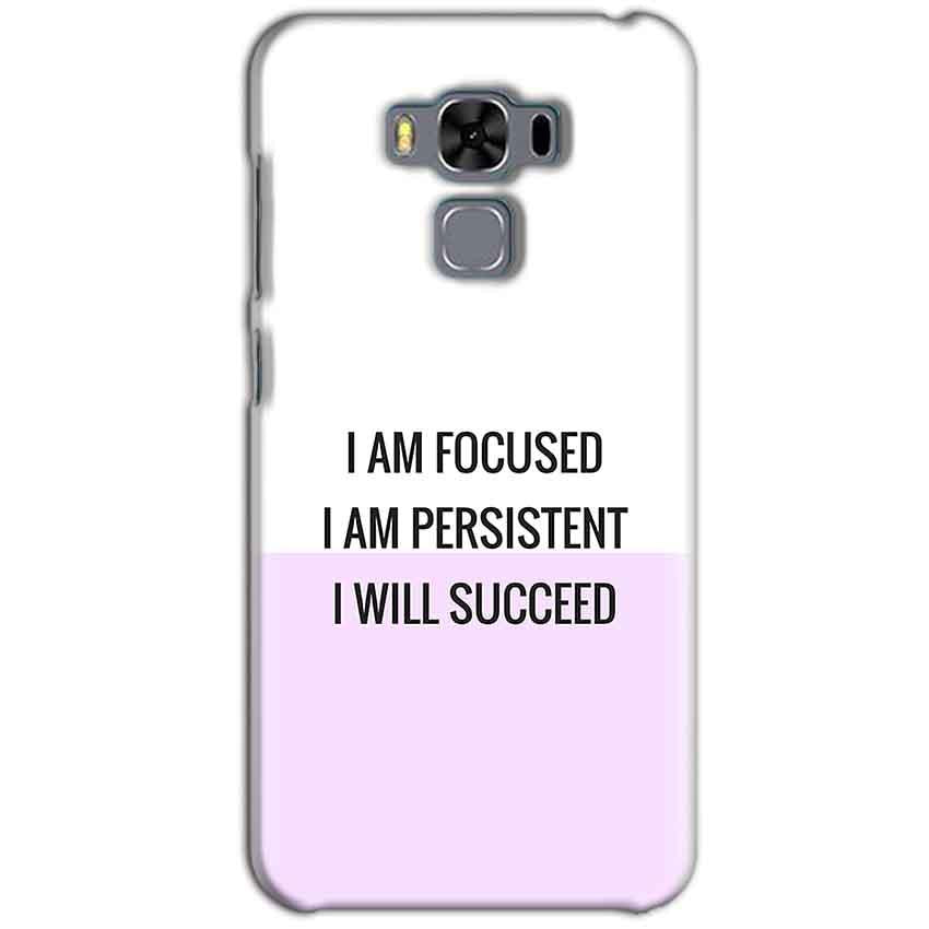 Asus Zenfone 3 MAX ZC553KL Mobile Covers Cases I am Focused - Lowest Price - Paybydaddy.com