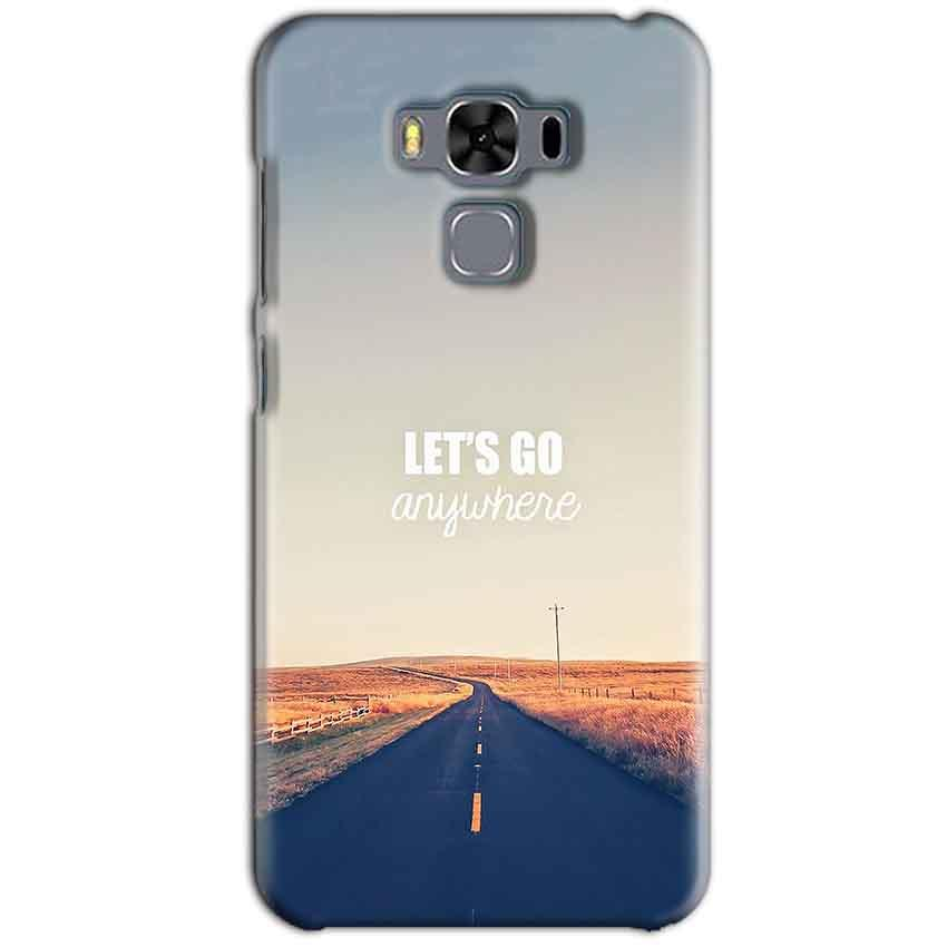 Asus Zenfone 3 MAX ZC553KL Mobile Covers Cases Lets Go Anywhere Quote - Lowest Price - Paybydaddy.com