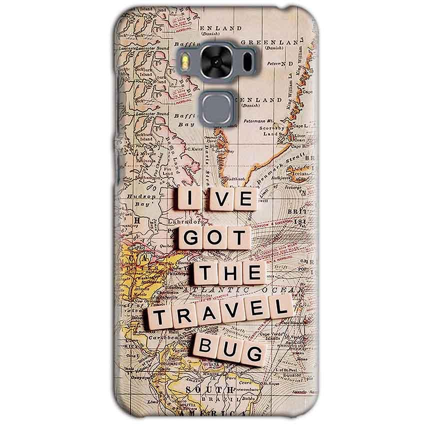 Asus Zenfone 3 MAX ZC553KL Mobile Covers Cases Live Travel Bug - Lowest Price - Paybydaddy.com