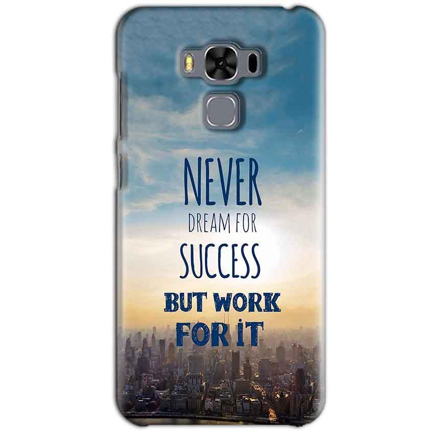 Asus Zenfone 3 MAX ZC553KL Mobile Covers Cases Never Dreams For Success But Work For It Quote - Lowest Price - Paybydaddy.com