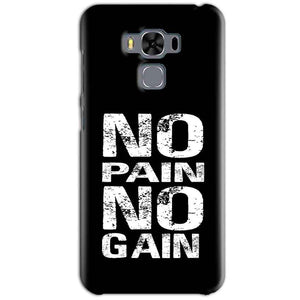 Asus Zenfone 3 MAX ZC553KL Mobile Covers Cases No Pain No Gain Black And White - Lowest Price - Paybydaddy.com