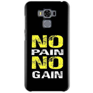 Asus Zenfone 3 MAX ZC553KL Mobile Covers Cases No Pain No Gain Yellow Black - Lowest Price - Paybydaddy.com