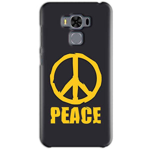 Asus Zenfone 3 MAX ZC553KL Mobile Covers Cases Peace Blue Yellow - Lowest Price - Paybydaddy.com