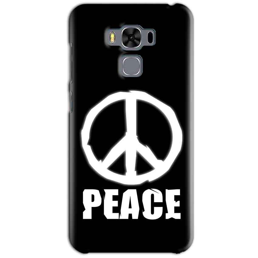 Asus Zenfone 3 MAX ZC553KL Mobile Covers Cases Peace Sign In White - Lowest Price - Paybydaddy.com