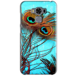 Asus Zenfone 3 MAX ZC553KL Mobile Covers Cases Peacock blue wings - Lowest Price - Paybydaddy.com