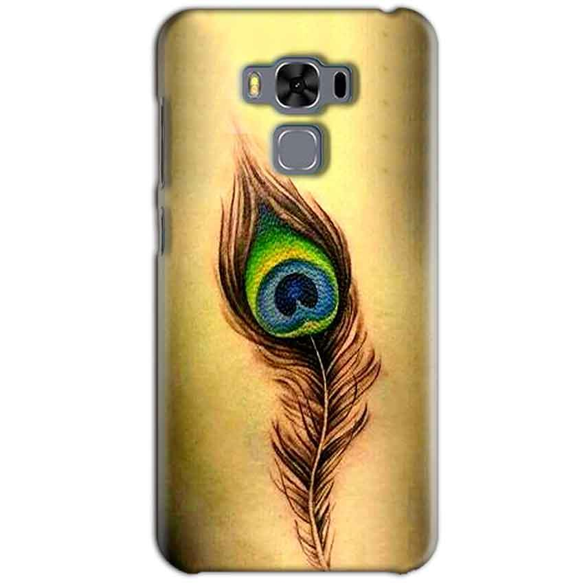 Asus Zenfone 3 MAX ZC553KL Mobile Covers Cases Peacock coloured art - Lowest Price - Paybydaddy.com