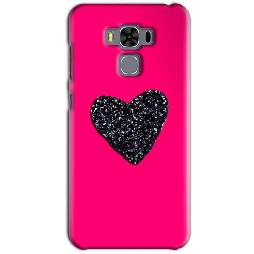 Asus Zenfone 3 MAX ZC553KL Mobile Covers Cases Pink Glitter Heart - Lowest Price - Paybydaddy.com