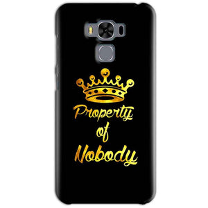Asus Zenfone 3 MAX ZC553KL Mobile Covers Cases Property of nobody with Crown - Lowest Price - Paybydaddy.com