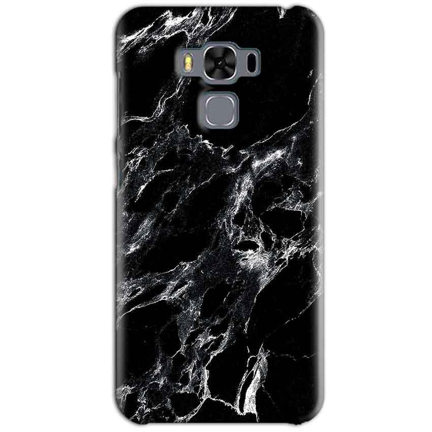 Asus Zenfone 3 MAX ZC553KL Mobile Covers Cases Pure Black Marble Texture - Lowest Price - Paybydaddy.com