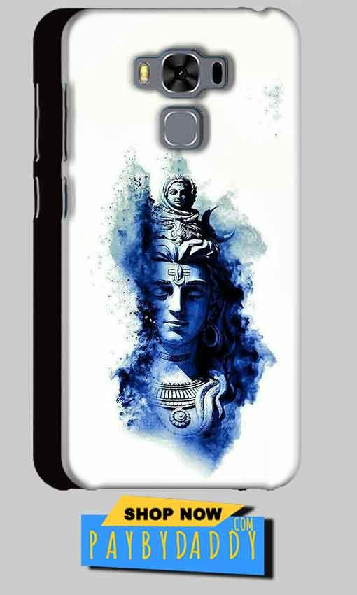 Asus Zenfone 3 MAX ZC553KL Mobile Covers Cases Shiva Blue White - Lowest Price - Paybydaddy.com