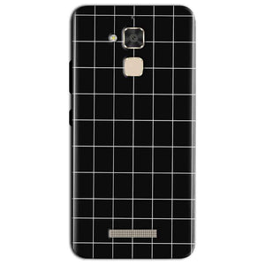 Asus Zenfone 3 Max Mobile Covers Cases Black with White Checks - Lowest Price - Paybydaddy.com