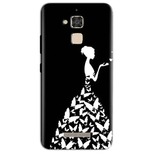 Asus Zenfone 3 Max Mobile Covers Cases Butterfly black girl - Lowest Price - Paybydaddy.com
