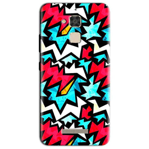 Asus Zenfone 3 Max Mobile Covers Cases Colored Design Pattern - Lowest Price - Paybydaddy.com