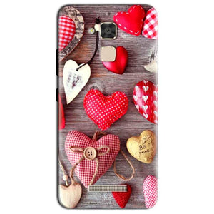 Asus Zenfone 3 Max Mobile Covers Cases Hearts- Lowest Price - Paybydaddy.com