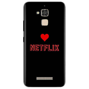 Asus Zenfone 3 Max Mobile Covers Cases NETFLIX WITH HEART - Lowest Price - Paybydaddy.com