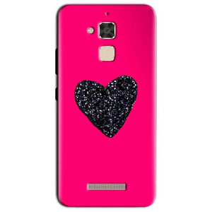 Asus Zenfone 3 Max Mobile Covers Cases Pink Glitter Heart - Lowest Price - Paybydaddy.com