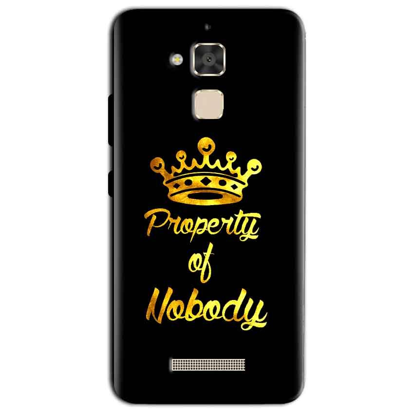 Asus Zenfone 3 Max Mobile Covers Cases Property of nobody with Crown - Lowest Price - Paybydaddy.com