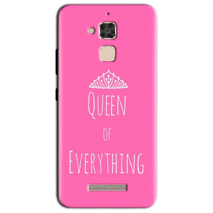 Asus Zenfone 3 Max Mobile Covers Cases Queen Of Everything Pink White - Lowest Price - Paybydaddy.com