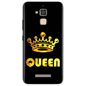 Asus Zenfone 3 Max Mobile Covers Cases Queen With Crown in gold - Lowest Price - Paybydaddy.com