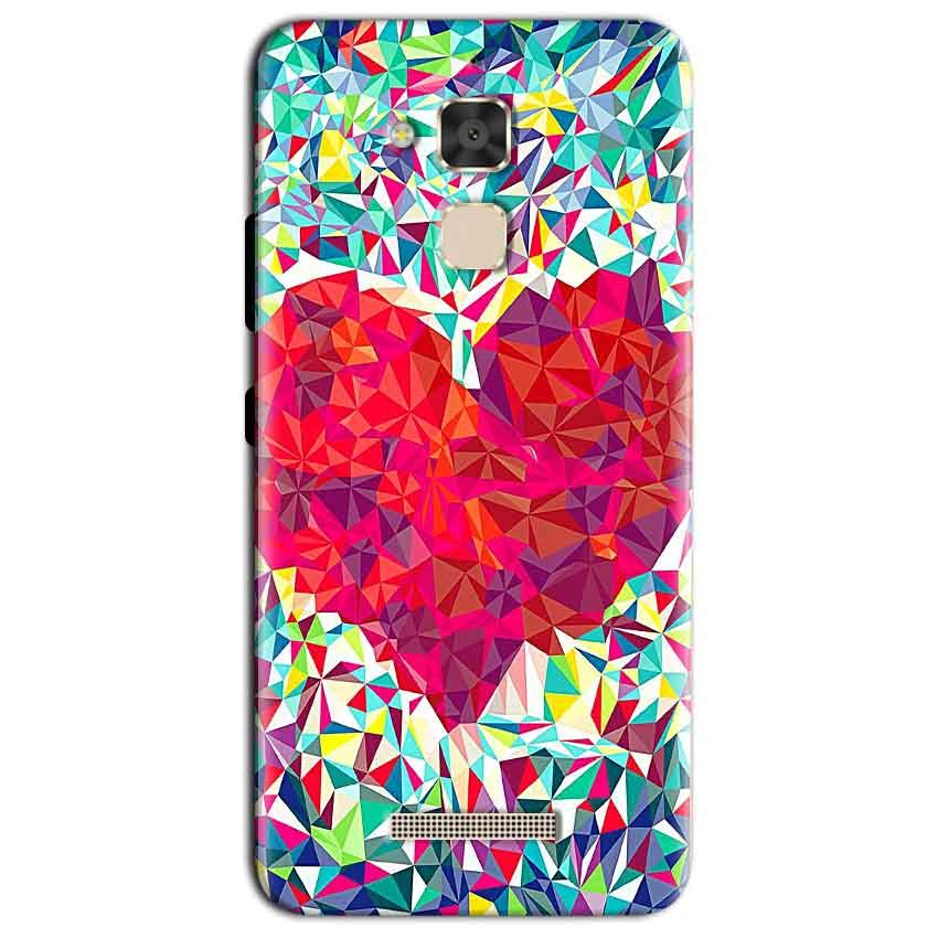 Asus Zenfone 3 Max Mobile Covers Cases heart Prisma design - Lowest Price - Paybydaddy.com