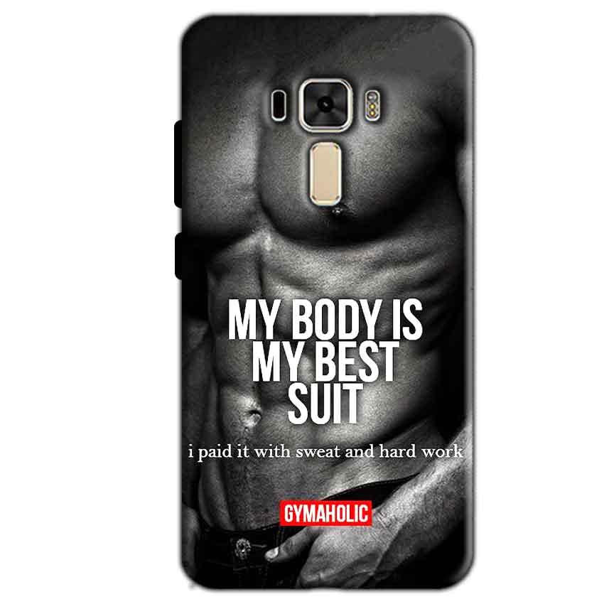 Asus Zenfone 3 Mobile Covers Cases My Body is my best suit - Lowest Price - Paybydaddy.com