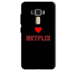 Asus Zenfone 3 Mobile Covers Cases NETFLIX WITH HEART - Lowest Price - Paybydaddy.com