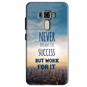 Asus Zenfone 3 Mobile Covers Cases Never Dreams For Success But Work For It Quote - Lowest Price - Paybydaddy.com