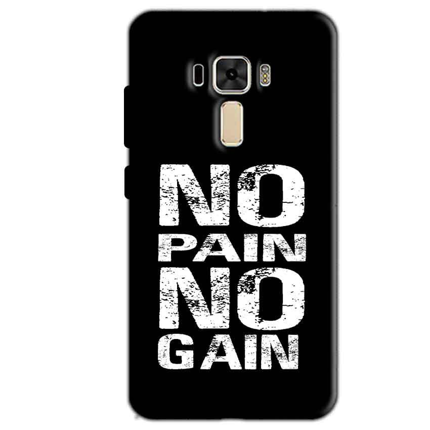 Asus Zenfone 3 Mobile Covers Cases No Pain No Gain Black And White - Lowest Price - Paybydaddy.com