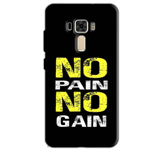 Asus Zenfone 3 Mobile Covers Cases No Pain No Gain Yellow Black - Lowest Price - Paybydaddy.com