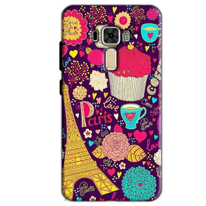 Asus Zenfone 3 Mobile Covers Cases Paris Sweet love - Lowest Price - Paybydaddy.com